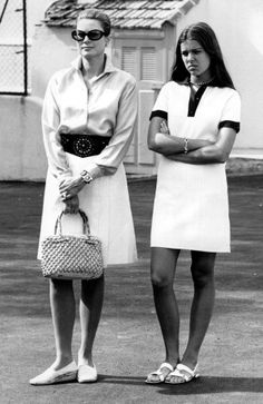 Grace Kelly and her daughter Caroline