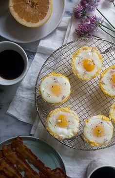 Spaghetti Squash Egg Baskets