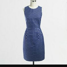 J. Crew Factory Shimmer Dot Dress