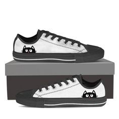 50e60229be5e Peeping Cat Women s High   Low Top Canvas Shoes