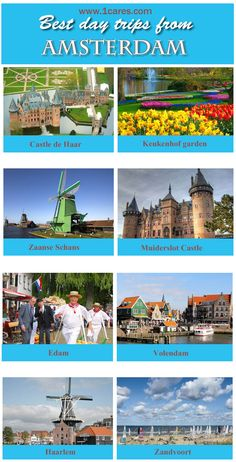 Explore best destinations for day trips from Amsterdam with comfort, book your car or minivan with driver on www.1CARES.com at affordable prices. #Amsterdam_day_trips,#chauffeur_service_Amsterdam, #Amsterdam_car_hire,#Amsterdam_minivan_hire,#1carescom,#castle_de_haar,#volendam,#keukenhof,#edam,#haarlem,#travel_holland