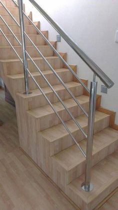 New modern stairs railing ideas stainless steel Ideas Stairs Design Modern Ideas Modern Railing Stainless Stairs steel Steel Stairs Design, Staircase Railing Design, Interior Stair Railing, Modern Stair Railing, Balcony Railing Design, Home Stairs Design, Modern Stairs, Railing Ideas, Staircase Ideas