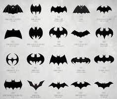 Evolution of Batman Logo  #batman