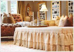 Linen Ottoman Slipcover....