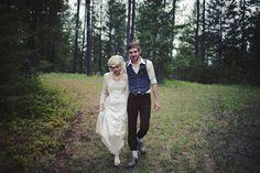 bride groom woods