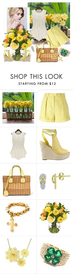 """""""Lacey"""" by blorden on Polyvore featuring Carven, GUESS, Mark Cross, ChloBo, Diane James, Arabel Lebrusan, Van Cleef & Arpels, women's clothing, women and female"""