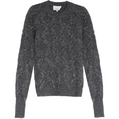 3.1 PHILLIP LIM Mohair Jumper (44,495 INR) ❤ liked on Polyvore featuring tops, sweaters, fringe top, jumpers sweaters, dark grey sweater, mohair sweater and 3.1 phillip lim