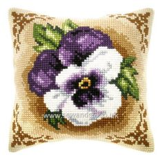 Buy+Rich+Purple+Pansy+Cushion+Front+Chunky+Cross+Stitch+Kit+Online+at+www.sewandso.co.uk
