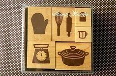 Stamp Marche Kitchenware set by karaku on Etsy