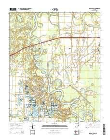 ~ De Valls Bluff AR topo map, 1:24000 scale, 7.5 X 7.5 Minute, Current, 2014