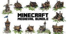 Medieval Bundle | Building Pack | Minecraft Building Inc