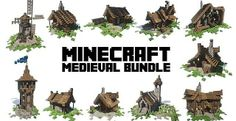 Medieval Bundle | Building Pack | Minecraft Building Inc