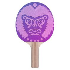 Ping Pong Paddle STONE-EYED GOD blue fuchsia Scary Lion, Ping Pong Paddles, Pink Yellow, Blue, Dungeons And Dragons, Your Design, Unicorn, God, Dios
