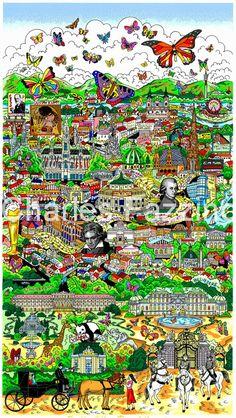 fazzino-cityscape-art-vienna-butterflies-over-1.jpg (479×850)