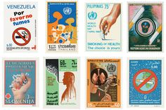 The World Health Organization used a series of stamps to get the anti-smoking message across