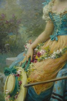 ⊰ Posing with Posies ⊱ paintings & illustrations of women & children with flowers -