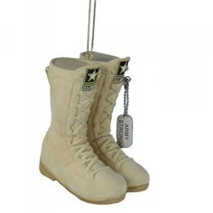 Army combat boots ornament!