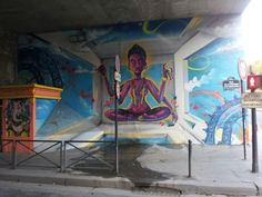 Vishnu mural at la Poterne des Peupliers in Paris