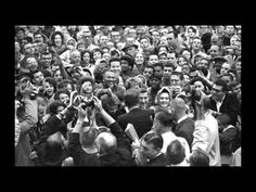 50 years later: JFK addresses crowd outside Hotel Texas in downtown Fort Worth.