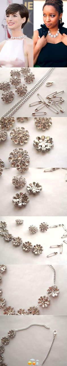 #vintage #brooches and #earrings. necklace
