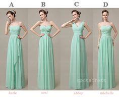 long bridesmaid dress chiffon bridesmaid dress by sposadress, $129.00