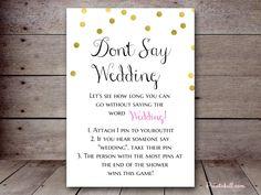 Don't Say Wedding – Printabell • Create