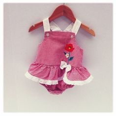 80's style Vintage Baby Girl Red White by BloomingLotusPrints, $15.00