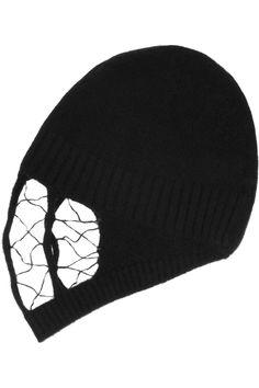 Rick Owens|Veil-front wool and angora-blend hat|NET-A-PORTER.COM
