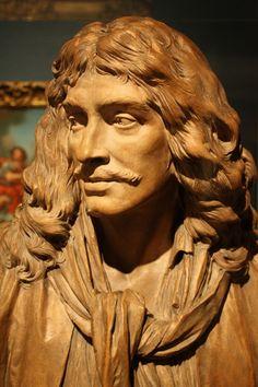 Molière Jean-Antoine Houdon, 1781, Princeton Üniversitesi Sanat Müzesi, Princeton, New Jersey (Jean-Baptiste Poquelin).  (Gezici Wanderer Foto)