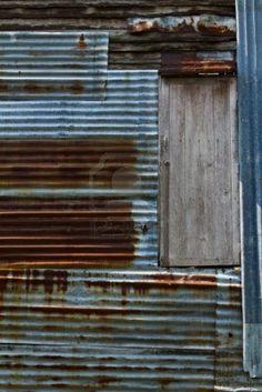 Rusty old corrugated metal