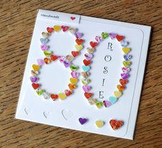 80. Geburtstagskarte personalisierte handgemachte von CardsbyGaynor
