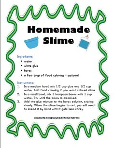 Easy 3 ingredient fluffy slime recipe fluffy slime recipe slime two free homemade slime recipes ccuart Gallery