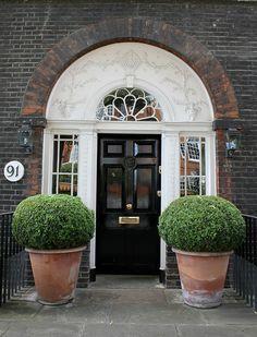 Door & Fanlight: Beaufort Street, London,  by curry15, via Flickr