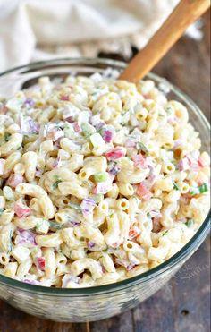 Macaroni Salad Ingredients, Homemade Macaroni Salad, Creamy Macaroni Salad, Best Macaroni Salad, Pasta Salad Recipes, Recipe For Macaroni Salad, Macaroni Salads, Macaroni Salad With Chicken, Pasta Salad Dressings