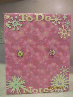Hot Pink Note Board by MomsDownTime on Etsy #Etsy #memo #magnet momsdowntime