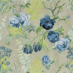 floral wallpaper for powder room
