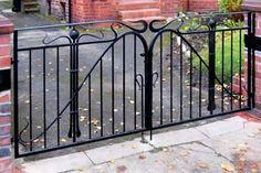 Verdigris' Art Nouveau Forged Iron Gate