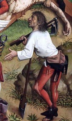 Karlsruhe Passion, Crucifixion, detail