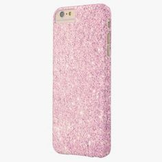 Cute iPhone 6 Case! This Elegant Pink Glitter Luxury Barely There iPhone 6 Plus Case can be personalized or purchased as is to protect your iPhone 6 in Style!