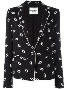 ESSENTIEL ANTWERP Lip Print Blazer. #essentielantwerp #cloth #blazer