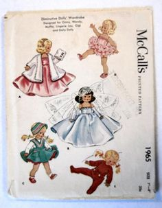 "Diminutive Dolls' Wardrobe Designed for 7""-8"" dolls like Ginny, Wendy, Muffie, Lingerie Lou, Gigi, and Daily Dolly"
