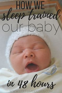 Tips for how we got our 5 month old to sleep through the night with gentle sleep training, a nap schedule, and an easy bedtime routine.