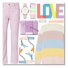 """PASTEL"" by alexa-girl2 ❤ liked on Polyvore featuring Chinti and Parker, Étoile Isabel Marant, Sergio Rossi, Oscar de la Renta, Native State, Nails Inc. and AERIN"