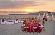 A picture-perfect destination wedding ceremony and reception setup located at Dreams Villamagna in Riviera Nayarit, Mexico! Tulum, Palm Beach, Sunset Beach Weddings, Destination Weddings, Tropical Weddings, Riviera Nayarit, Riviera Maya, Dreams Resorts, Best All Inclusive Resorts