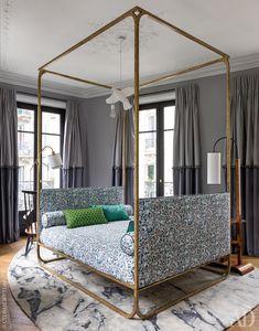 Квартира по дизайну Жана-Луи Денио в Х округе Парижа   AD Magazine