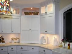 Cool way to do the corner!  Widen angle for larger appliance garage