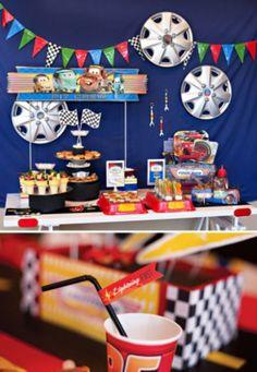 15 Ideias para Decoração de Festa Infantil Carros | Espaço Infantil