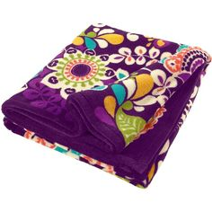 Vera Bradley Throw Blanket ($49) ❤ liked on Polyvore