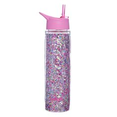 You'll be the envy of your friends with this pretty Glitter Water Bottles, Cute Water Bottles, Best Water Bottle, Drink Bottles, Objet Wtf, Copo Starbucks, Unicorn Room Decor, Barbie Doll Set, Baby Doll Accessories