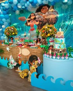 Festa Moana: 93 ideias para uma comemoração cheia de aventura Moana Birthday Party Theme, Moana Themed Party, 1st Birthday Party For Girls, Hawaiian Birthday, 2nd Birthday, Moana Decorations, Festa Moana Baby, 1st Birthday Party Decorations, Recipes